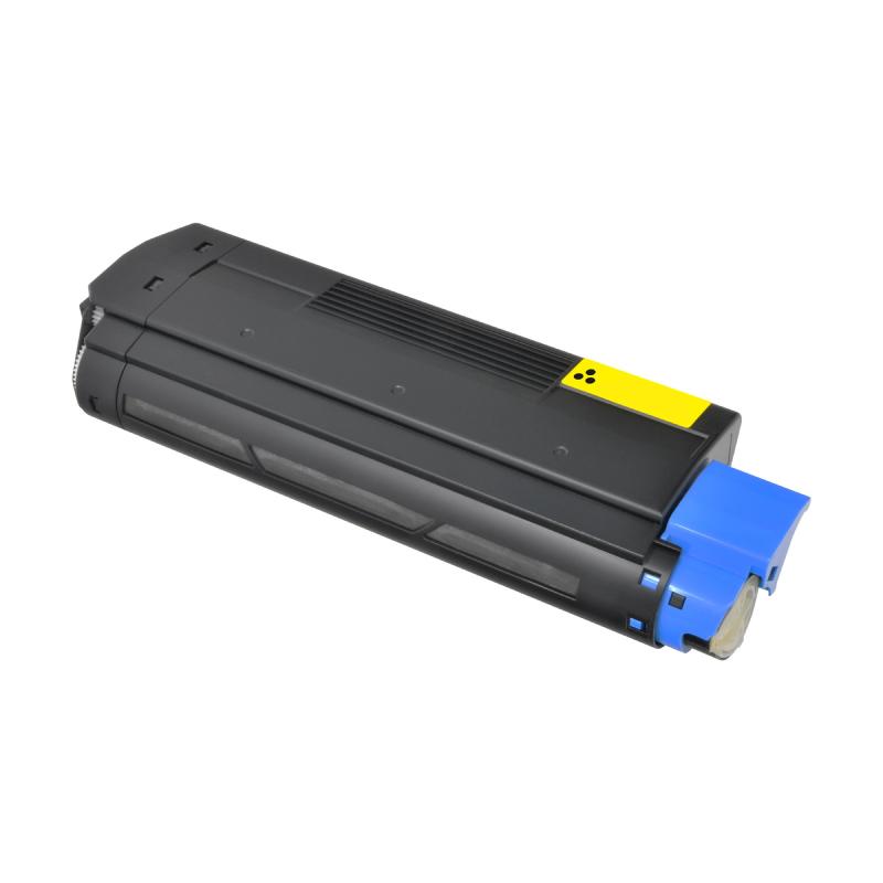 OKI C5100 Y Lasertoner, Gul, kompatibel (5000 sider)