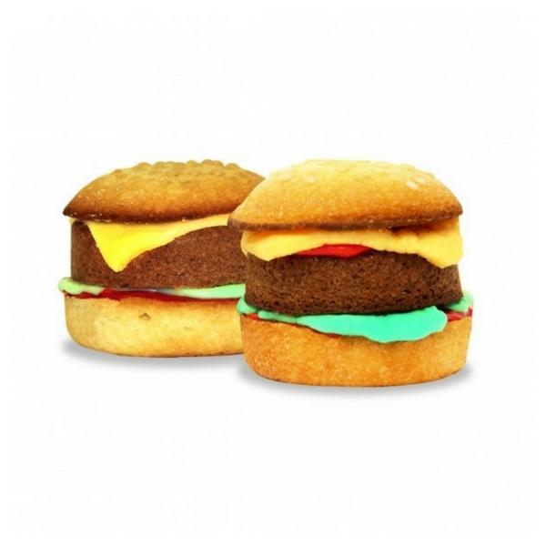 Image of   Burgerkage - Bag kage der ligner burgere