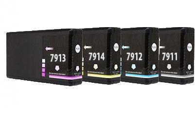 Kompatibel Epson T7911/T7912/T7913/T7914 combo pack 4 stk bläckpatron 70 ml