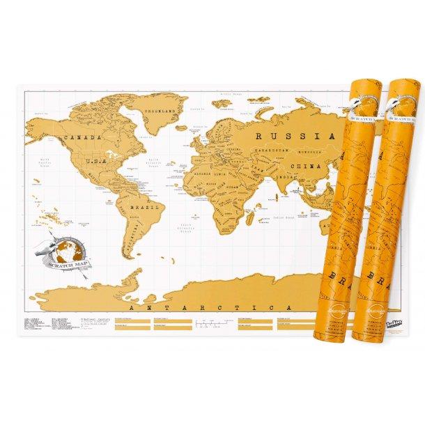 Världskartan skrapas – Sratch map, 2 st