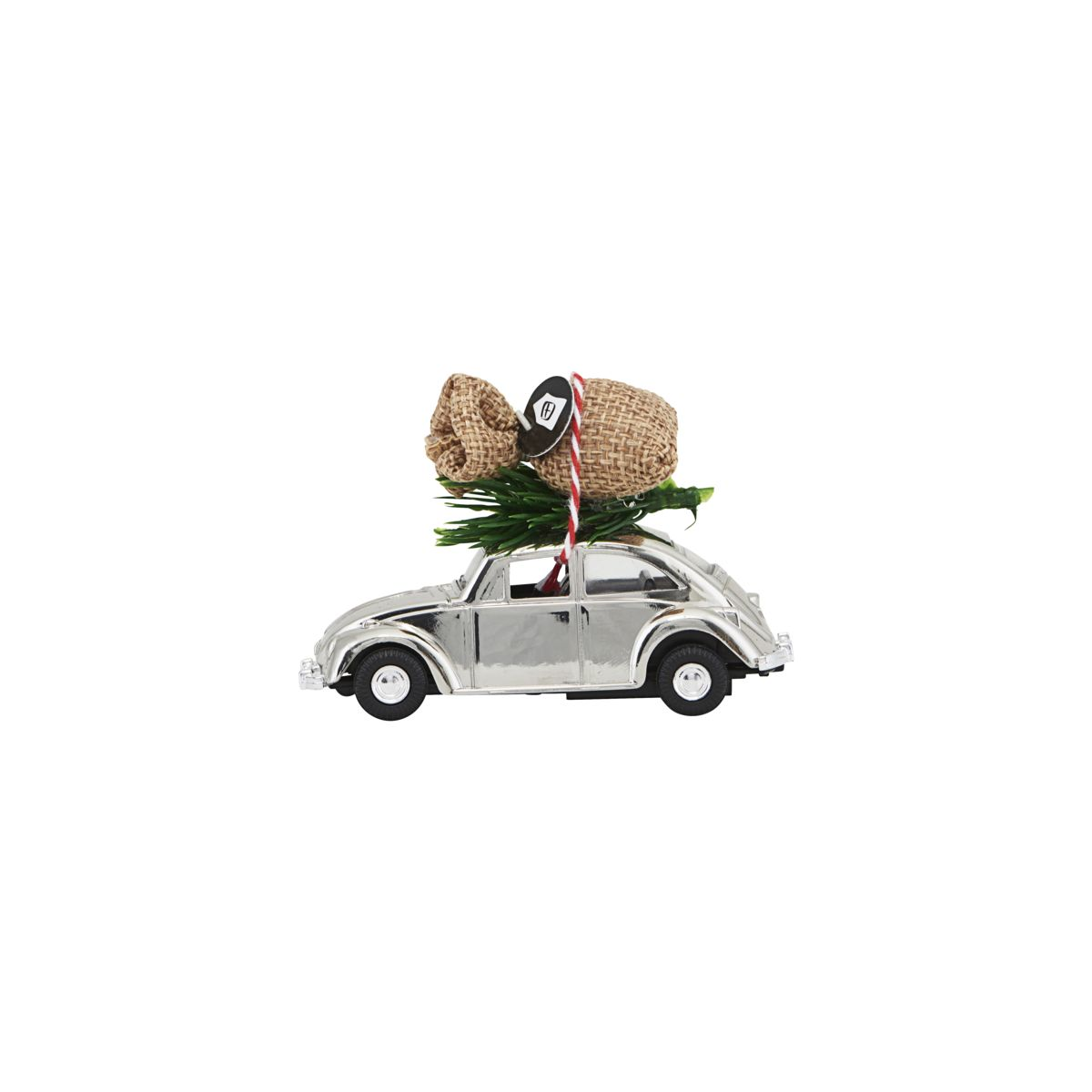 Image of   House Doctor Dekoration, MINI Xmas car, Krom, l: 8.5 cm