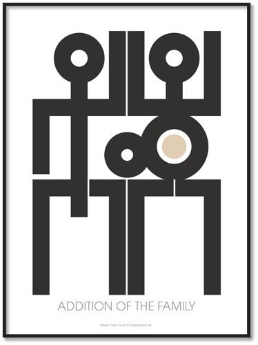 Plakat Addition Family All-Wall-Art (vælg str) 30x40 cm