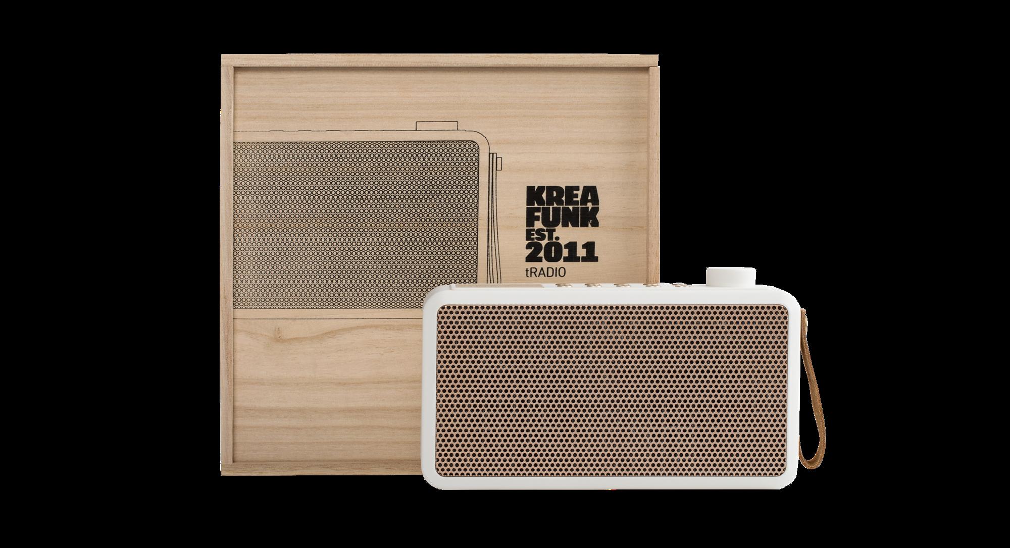 Kreafunk tRADIO, DAB+ radio, white