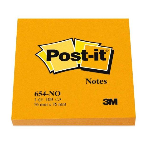 3M Post-it Notes 76x76 Neon Orange
