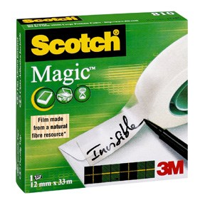 Image of   3M Magic tape 12 mm x 33 m 24 stk