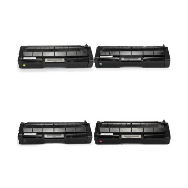 Ricoh SP C220E combo pack 4 stk lasertoner BK/C/M/Y 8000 sider