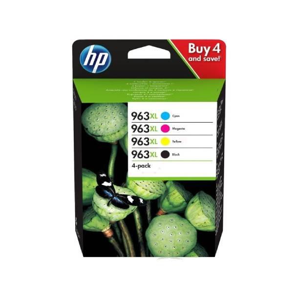HP 963 XL combo pack 4 stk blækpatron – 3YP35AE – BK/C/M/Y 116 ml