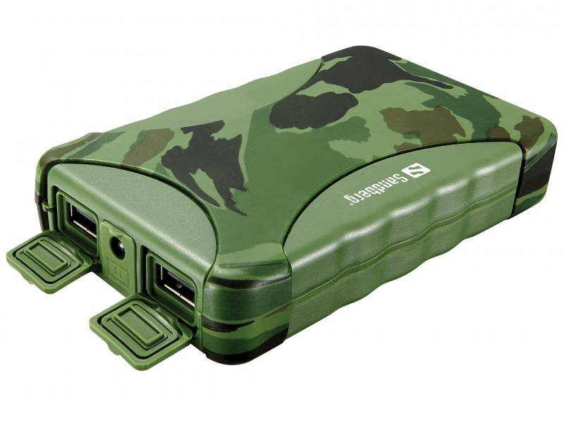 Image of   Sandberg Udendørs Powerbank 10400 mAh Army