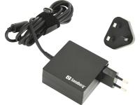 Image of   Sandberg USB-C AC oplader 65W EU+UK