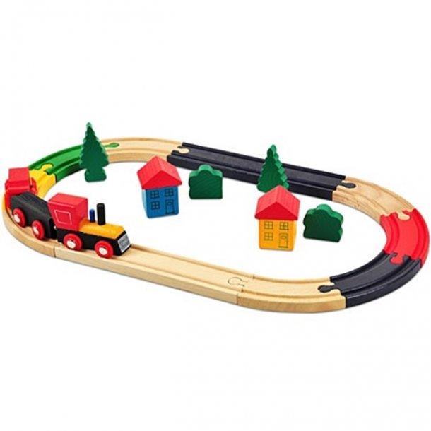 Train set i trä, 19 delar pr. pk