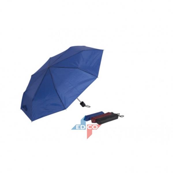 Image of   Paraply, mini, sammenfoldelig, 3 farver Blå