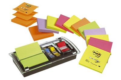 Image of   Blok Post-it Z-Notes DS100VP 12 blk 76x76 mm m/disp./index