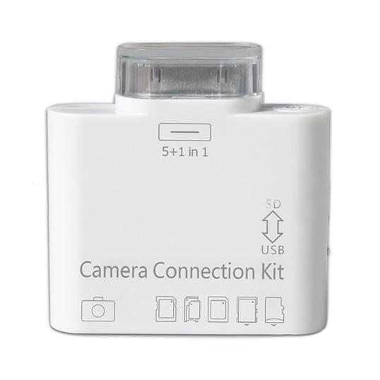 Image of   iPad Kamera kit - 5 i 1 kameratilslutning til iPad iPad 2/3