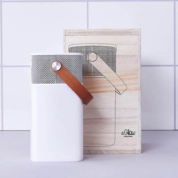 Image of   Kreafunk aGLOW, hvid m. hvid front, Bluetooth 2.1 speaker