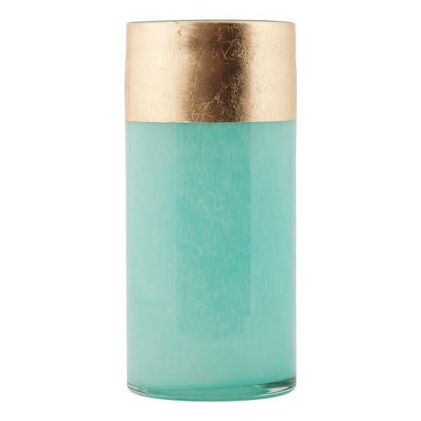 Image of   House Doctor vase, Lost, grøn/guld, dia.: 10, h.: 22 cm