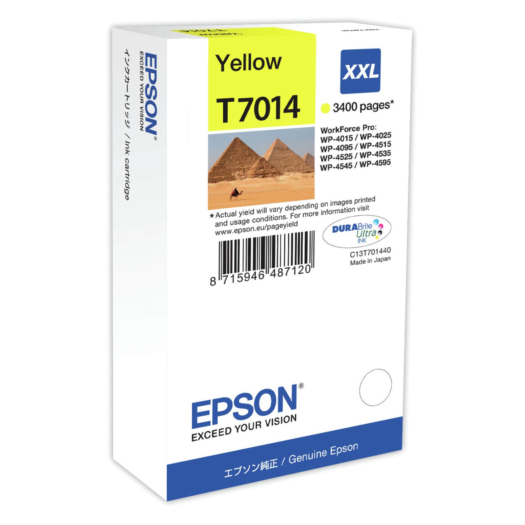 Epson T7012 XXL Y Original bläckpatron ( 34,2 ml)