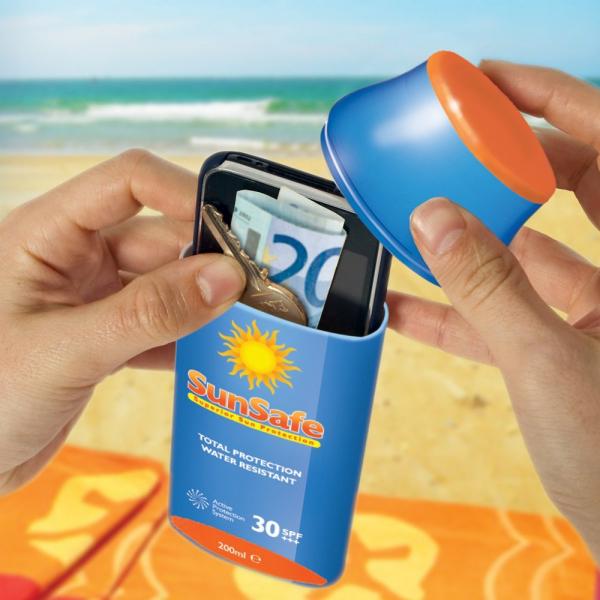 Image of   Sunsafe - Skjul dine værdier på stranden