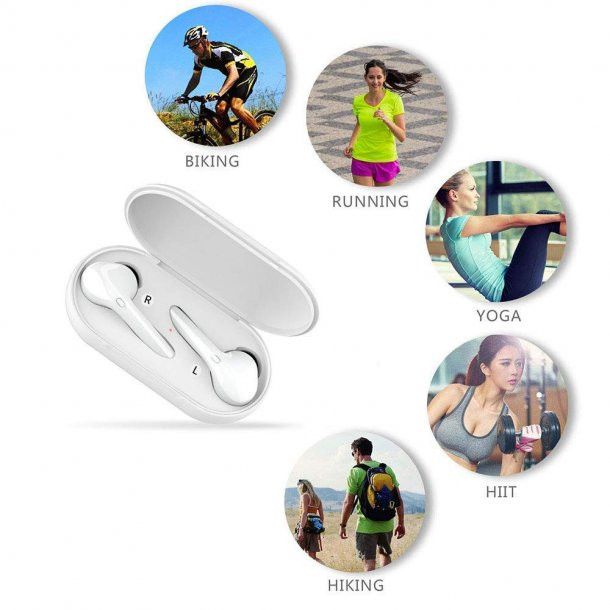 Sero bluetooth V5.0 Auto Pairing Stereo Mini Wireless Earphones, white