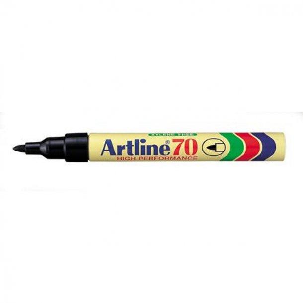 Artline Marker 70 permanent 1,5 svart 12 st