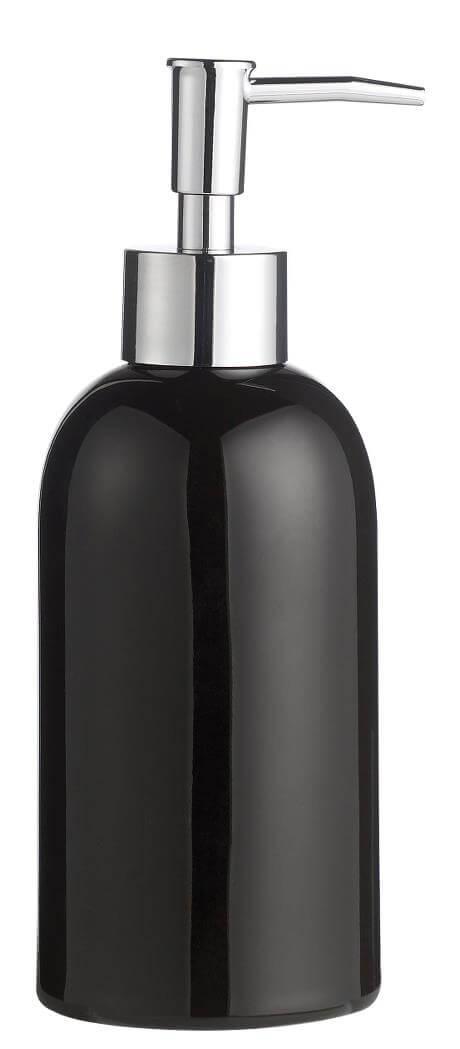 KJ Collection Tvål dispenser svart D 7 cm - H 19,5 cm