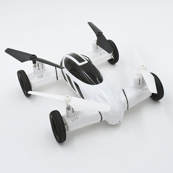Image of   Vecopter F809 RC fjernstyret dronebil, sort eller hvid Sort