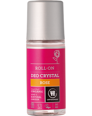 Urtekram Deokrystal roll-on Rose øko 50 ml