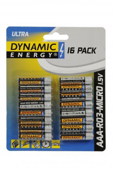 Ultra batterier, 16-pak, AAA-RO3-micro 1,5V,