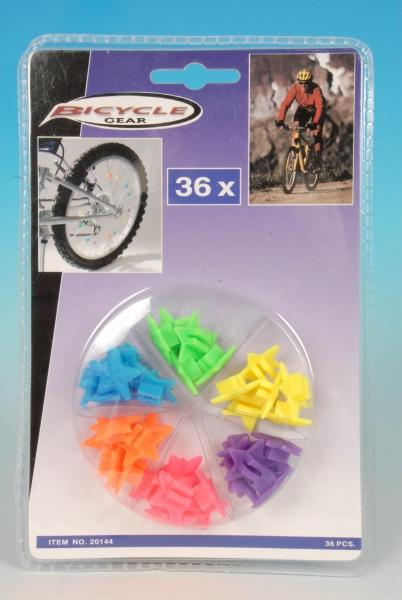 Cykel eger pynt, stjerner, 36 stk.