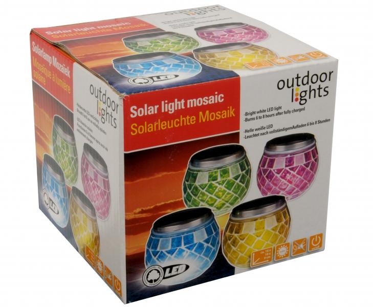 Image of   Solcelle mosaic lys, 1 hvidt LED-lys. Fås i 4 farver Grøn