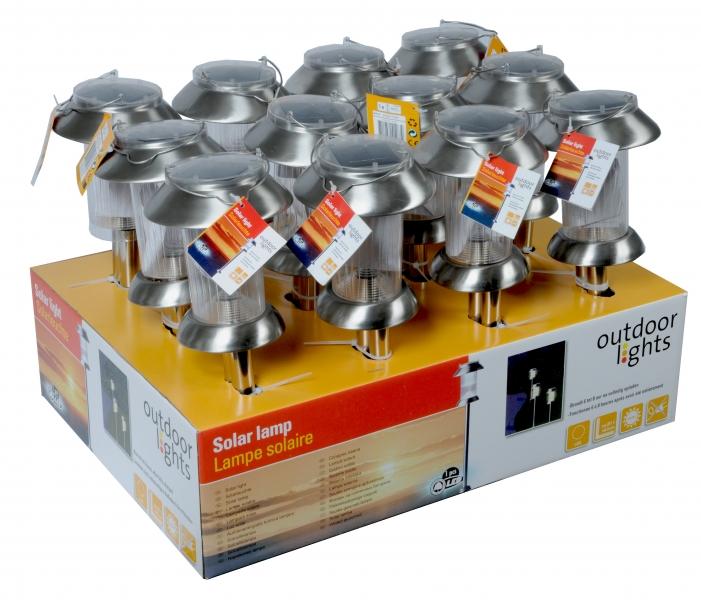 Image of   Solar LED-lampe m. hank 12x63cm