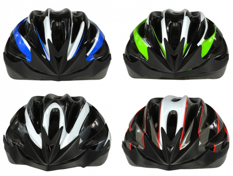 Dunlop Cykelhjelm, voksen, str M. Fire farver blå/hvid/sort