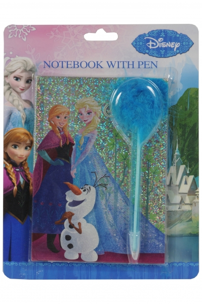Disney Frozen notesbog m. kuglepen, 40 ark