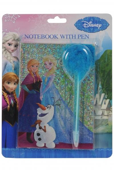 Image of   Disney Frozen notesbog m. kuglepen, 40 ark