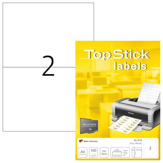 Herma Labels TopStick 210 X 148 mm 100 stk