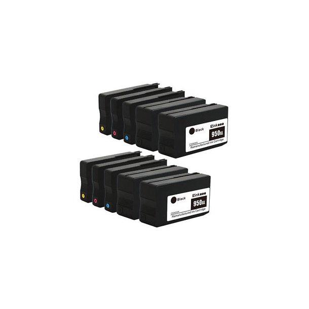 HP 950 / HP 951 XXL combo pack 10 stk blækpatron BK/C/M/Y 500 ml