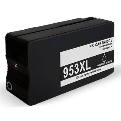 HP 953 XL BK (L0S70AE) sort blækpatron ,Kompatible, 2000 sider