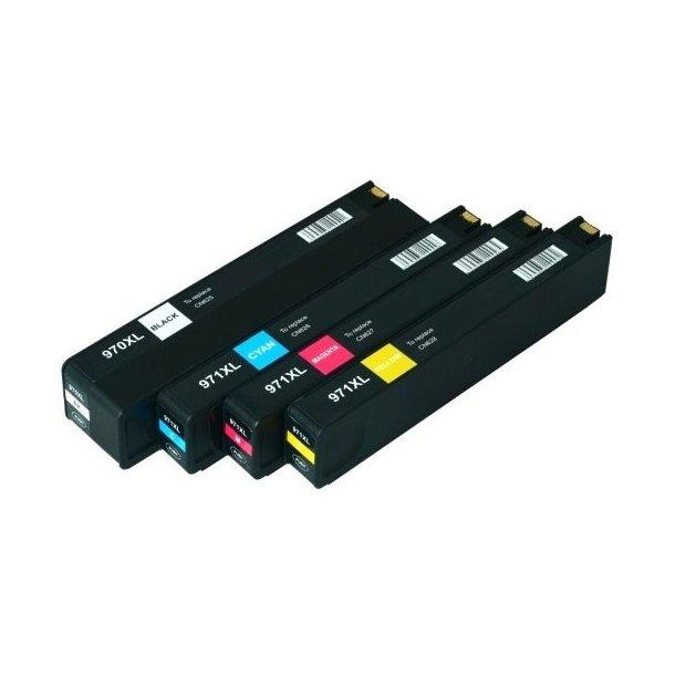 HP 970 XL / 971 XL combo pack 4 stk blækpatron BK/C/M/Y 380 ml
