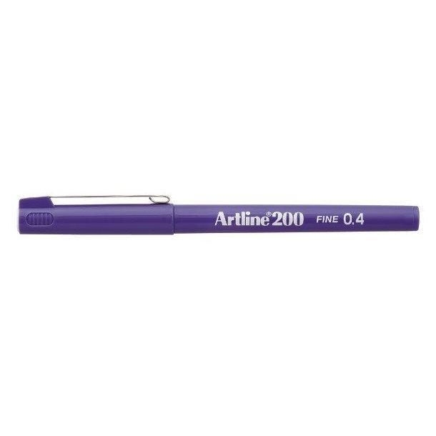 Artline Fineliner 200 Fine 0,4 blå, 12 st
