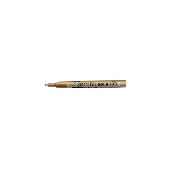 Artline 993 Metallisk Calligraphy guld, 12 st