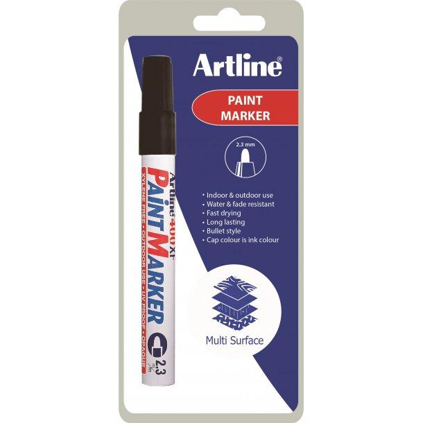 Artline Marker 400XF Paint svart 1 / B, 12 st