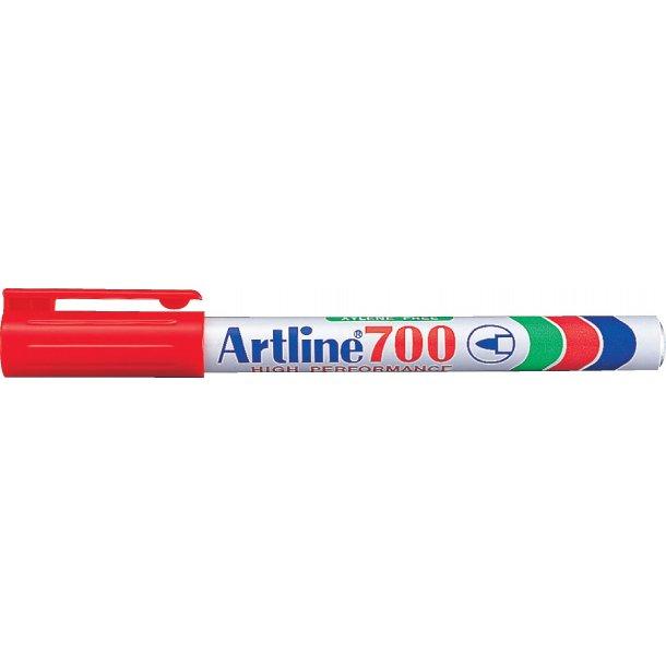 Artline Marker 700 Permanent 0,7 röd, 12 st