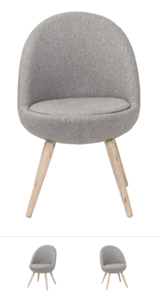 Image of   Bloomingville Augusta dining chair (Light grey)