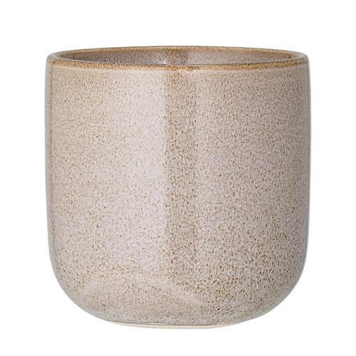 Image of   Bloomingville Vase, Natur, Stentøj Ø10xH11 cm