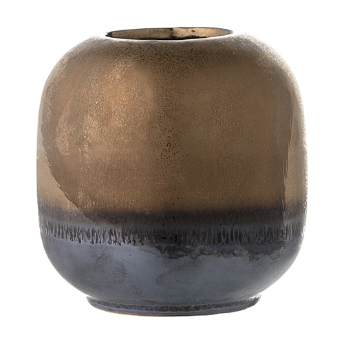Image of   Bloomingville Vase, Bronze, Stentøj Ø10,5xH10,5 cm