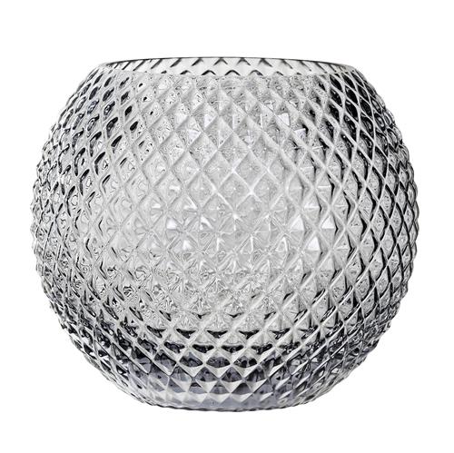 Image of   Bloomingville Vase, Grå, Glas Ø25xH20 cm
