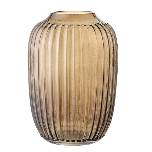Image of   Bloomingville Vase, Brun, Glas Ø10xH14 cm