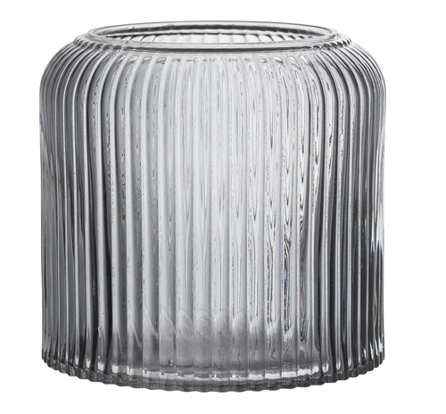 Image of   Bloomingville Vase, Grå, Glas Ø15xH14 cm