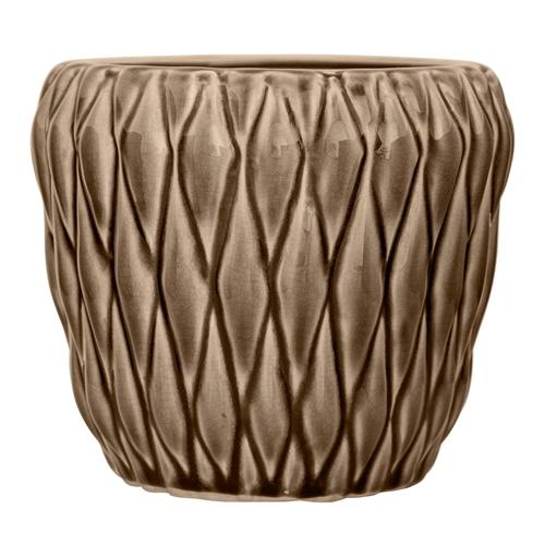Image of   Bloomingville Vase, Brun, Stentøj Ø16xH13,5 cm
