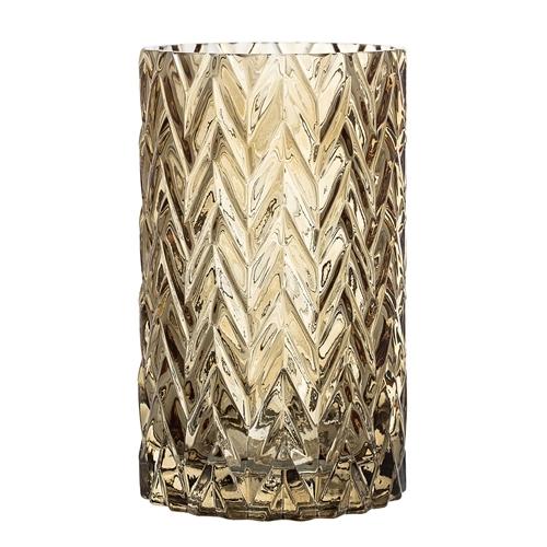Image of   Bloomingville Vase, Brun, Glas Ø11,5xH20 cm