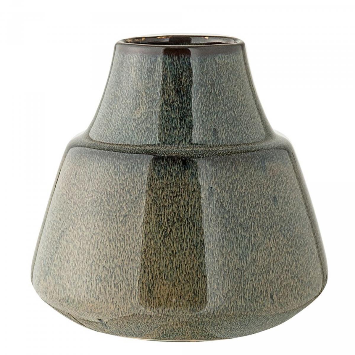 Image of   Bloomingville Vase, Blå, Stentøj højde 16 cm
